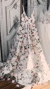 dress,floral overlay dress with v neck