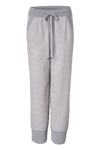 pants knit wool grey