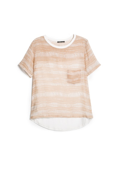 contrast back t-shirt