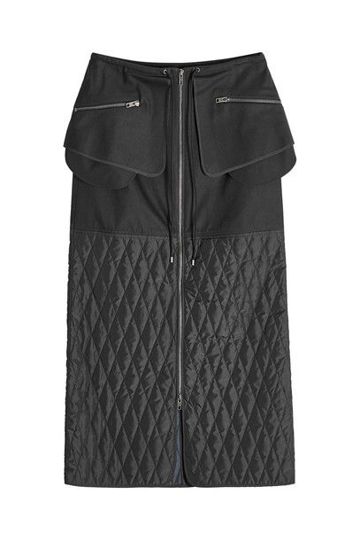 Kenzo Midi Cotton Skirt  in black
