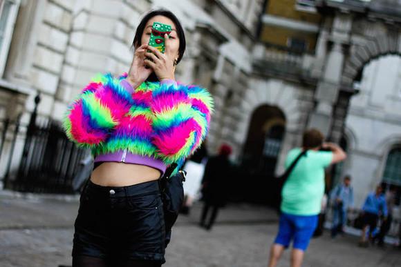 nastygal lfw blog multi colored fluffy
