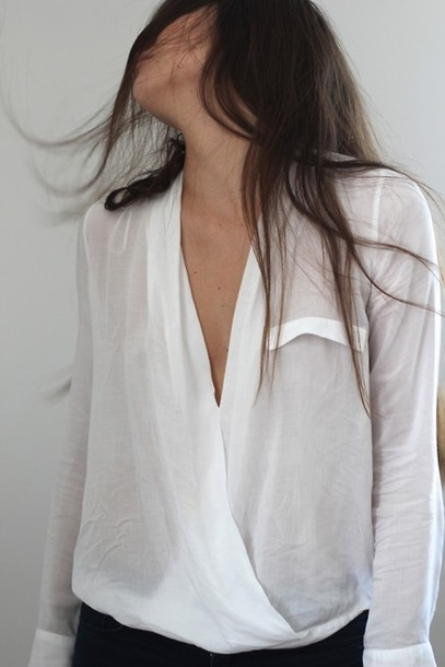 Blouse: white, shirt, shows off a tan, tumblr, white sheer shirt ...