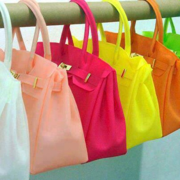 bag pink bag white bags