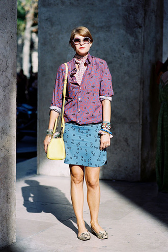 vanessa jackman blogger shirt skirt scarf t-shirt printed skirt printed shirt