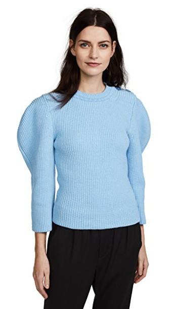 NINA RICCI sweater turquoise