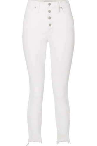 jeans skinny jeans cropped high white