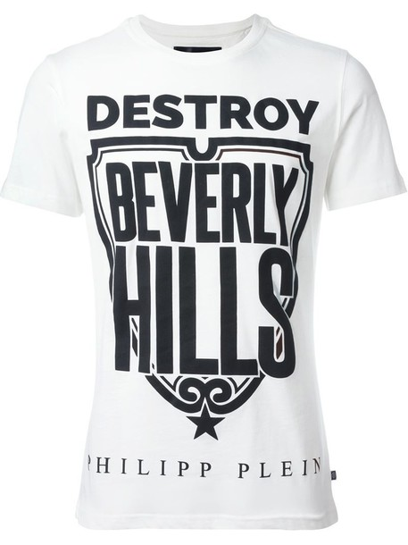 c564fe8a6 PHILIPP PLEIN Philipp Plein destroy Beverly Hills printed T-shirt