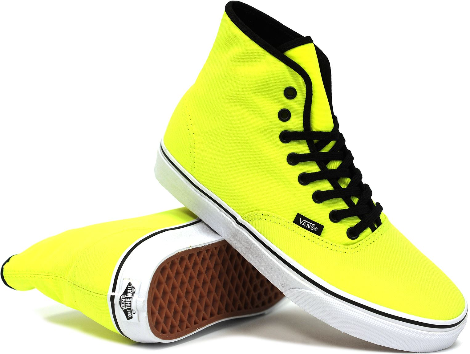 Vans Women's Authentic Hi (Neon Yellow) (Vans VN0RQFH37), Women's Shoes | BuySkateShoes.com