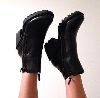 shoes boots black boots simple black boots zipper boots small heel boots