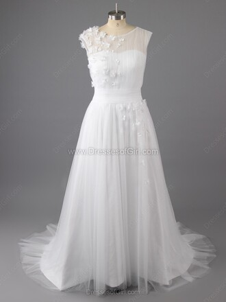 dress wedding dress wedding white white dress dressofgirl cute flowers lace tulle dress bride bright sparkle special occasion dress heart love sexy
