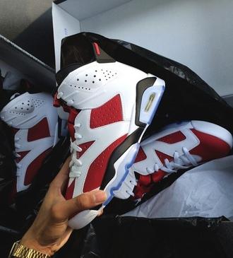 shoes red white black women air jordan