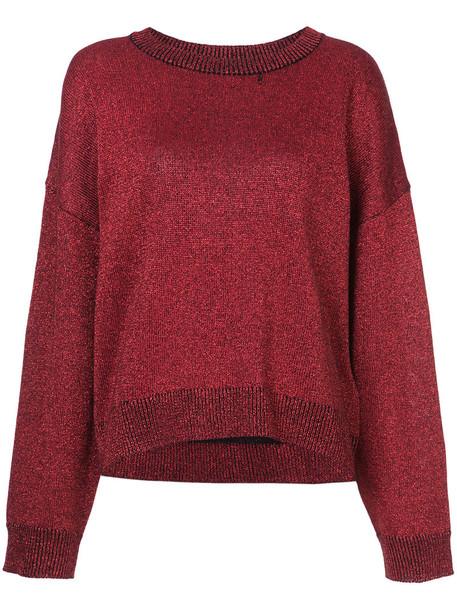rta sweater women red