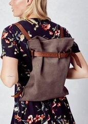 bag,backpack,suede backpack,leather backpack,festival bag,handbag