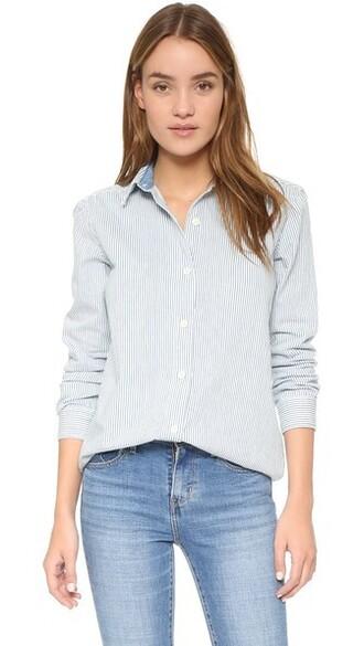 shirt loose white top