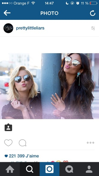 sunglasses ashley benson shay mitchell rayban