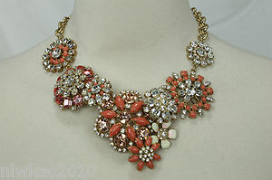 J Crew Flower Lattice Statement Bib Necklace New Sold Out | eBay