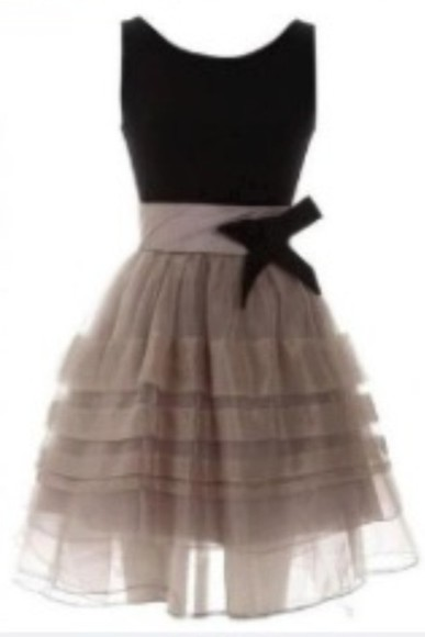 dress tan dress bow dress little black dress lacy dress