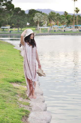 outfits&outings blogger dress hat