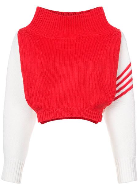 Monse sweater women wool red