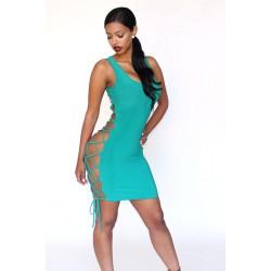 Strapped dress sleeveless emerald