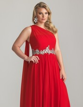dress,nail polish,nails,red dress,one shoulder,formal gown