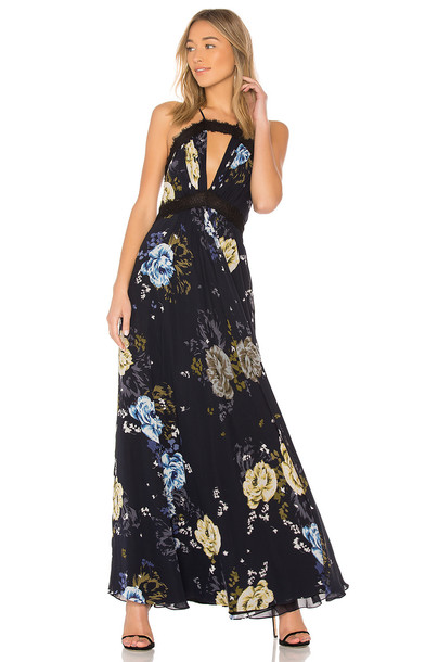 Jill Jill Stuart gown lace black dress