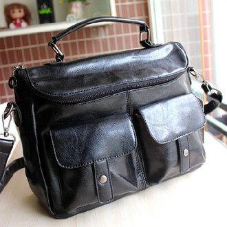 bag handbag retro black