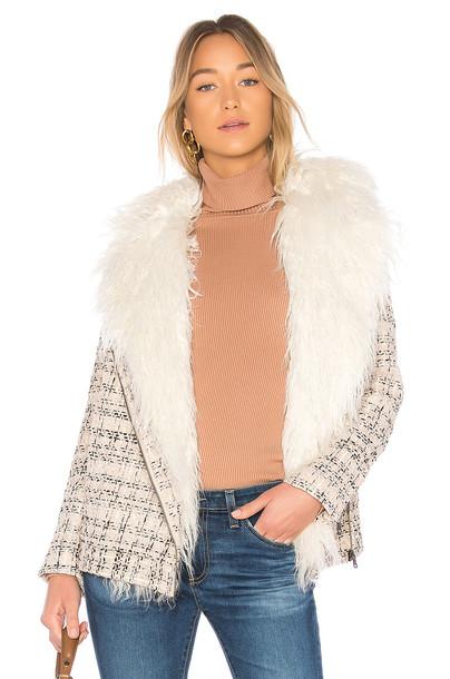 Lovers + Friends coat blush