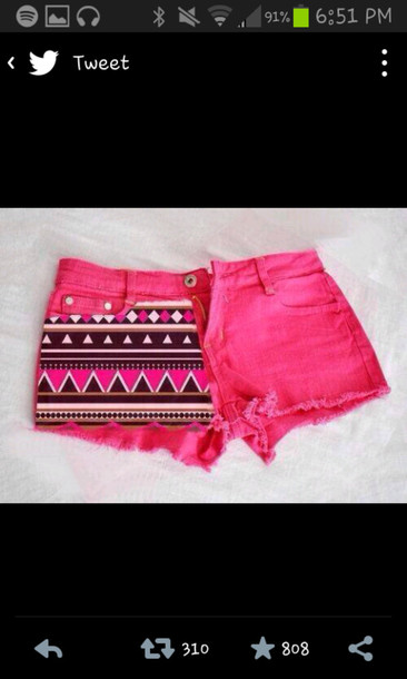 shorts pink aztec shoes
