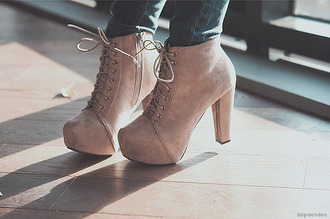 shoes beige heels zip highheels high heels lita litas cream summer
