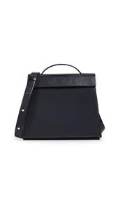 satchel,mini,triangle,black,bag