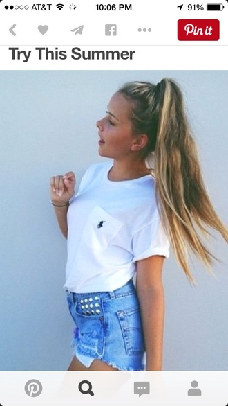 shirt t-shirt style white t-shirt ralph lauren polo
