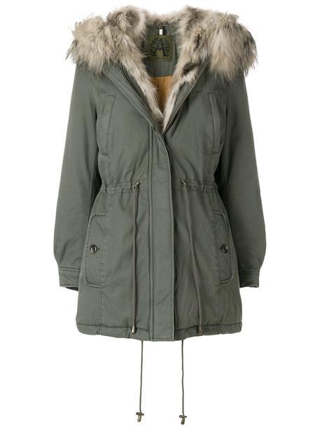 Alessandra Chamonix coat fur fox women cotton green