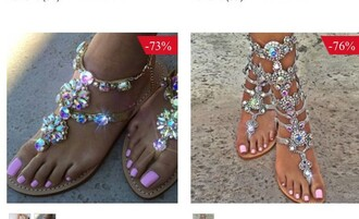 shoes pink blue all colors sandals beautiful diamonds