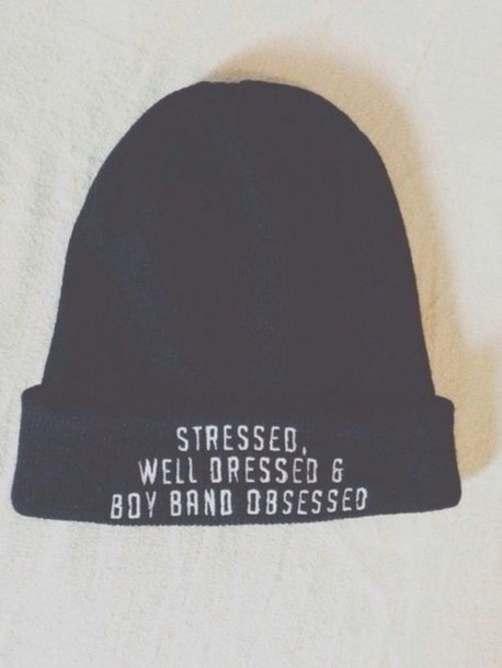 hat beanie stressed boyband obsessed tumblr