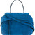 Tod's fold-over closure tote, Women's, Blue, Leather