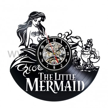 Vinyl Wall Clock The Little Mermaid Creative Clock Personalized Couples Gifts | Matching Necklaces and Bracelets | Custom Wedding Rings | Engraved Jewelry