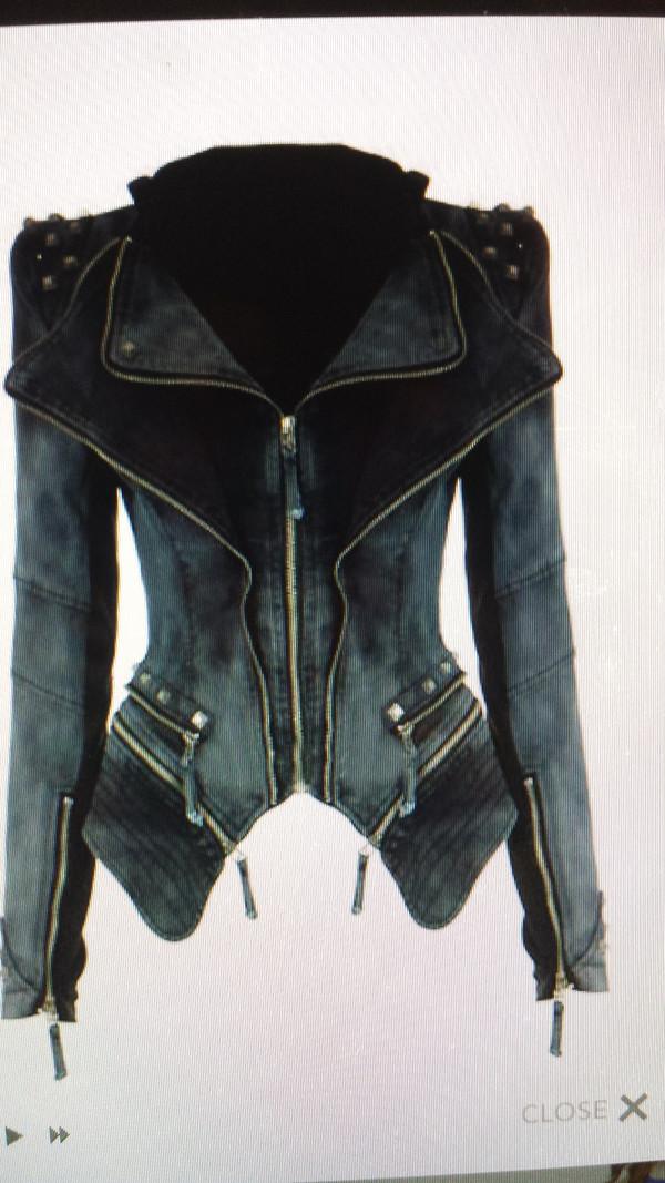 jacket demin black sexy