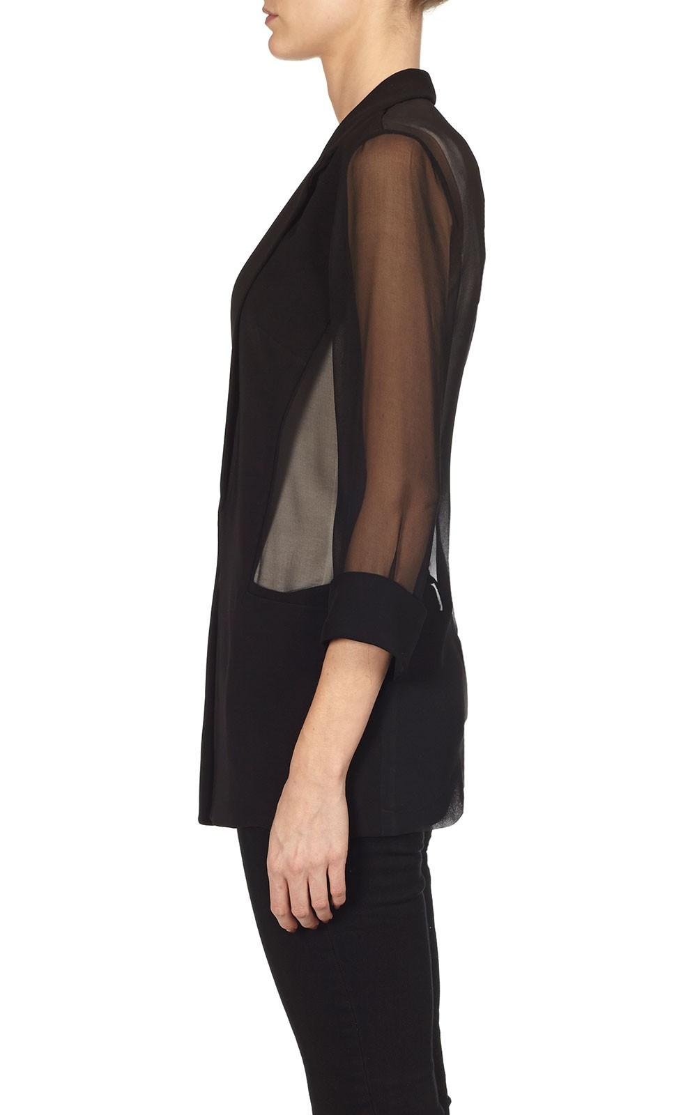 Bailey44 Giacometti Jacket In Black Sheer Blazer