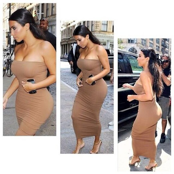 tube top nude nude color dress tube dress tube too kim k kim kardashian kim kardashian dress kim kardashian nude dress kim k outfit