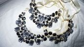 jewelery,black,ribbon,necklace