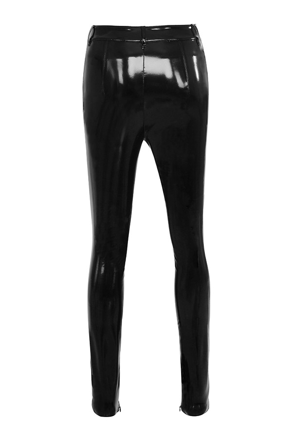 Clothing : Leggings : 'Haridan' Black Patent Stretch Vinyl Trousers