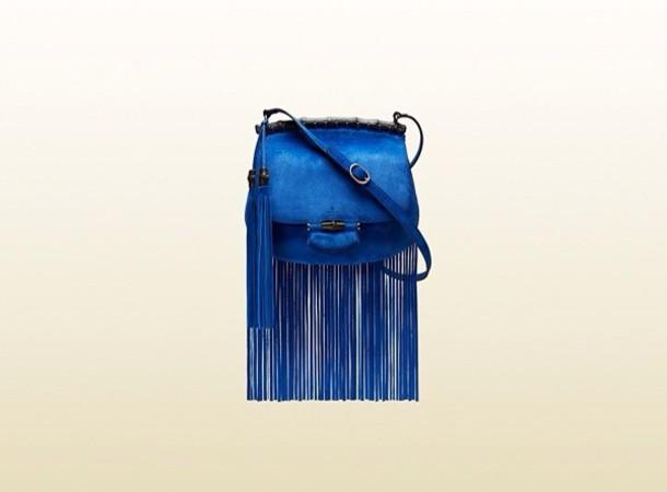 bag fringed bag gucci blue style elegant warm leather
