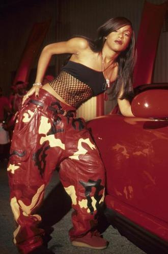 vintage camo pants hip hop r&b dance pants