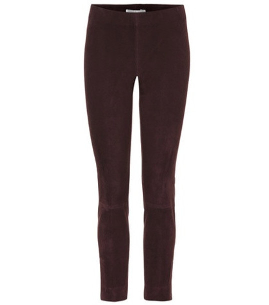 Vince Leather pants in brown