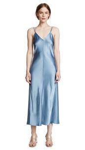 dress,slip dress,blue