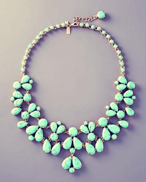 jewels turquoise green statement necklace accessories