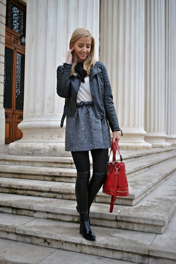 let's talk about fashion ! blouse skirt shoes bag jacket
