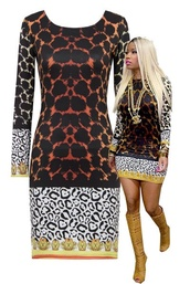 dress,cute dress animal print