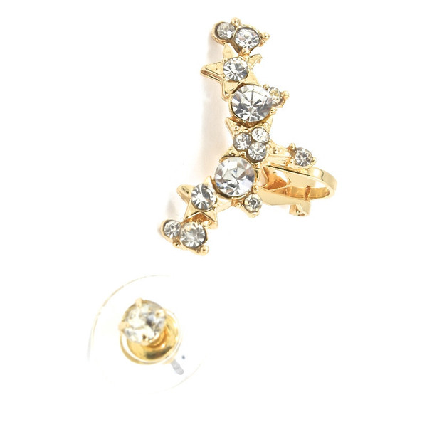 jewels anarchy street gold ear cuff studs